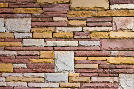 Sand stone wall, natural material Stock Photo