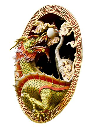 Dragon in the circle, Chinese temple style photo