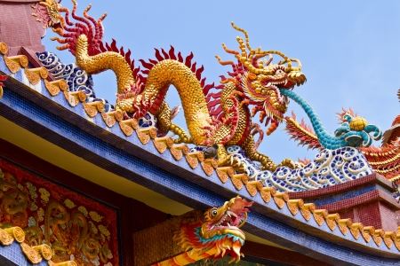 Chinese temple roof photo