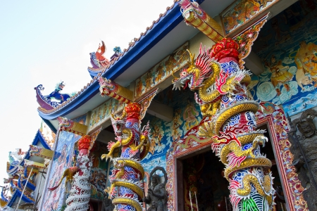 The entrance to the Chinese temple photo