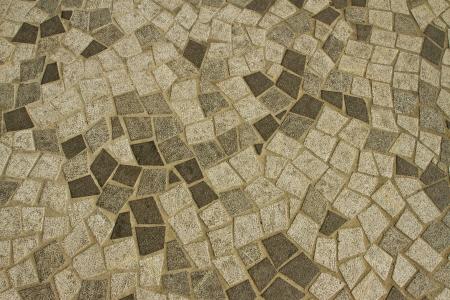 Close up granite floor, Hong Kong footpath