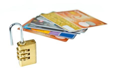 Locked your credit card for good financial health photo