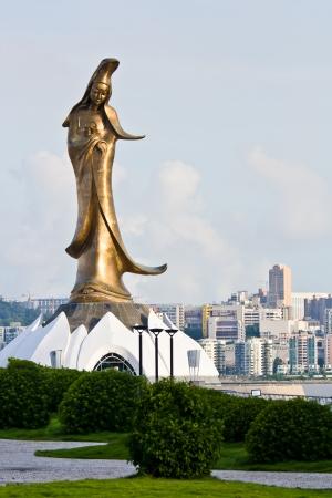 Kuan Yin statue at the harbour, Maocau, China