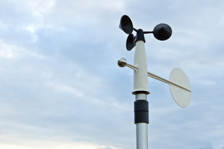 meteorology: wind speedometer for meteorology at the countryside, Thailand