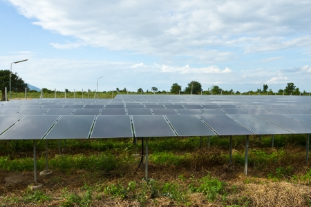 alternative power generator farm on the countryside