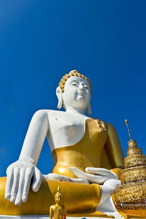 buddha statue, Doi Kum Temple, Northern of Thailand photo