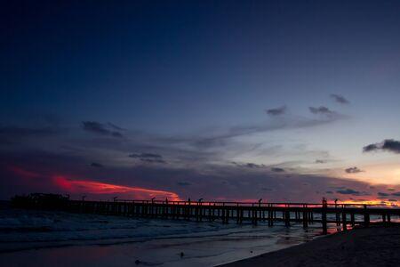 Sunset at Rayong beach, Thailand