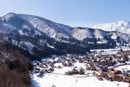 Shiroyama View at Gassho-zukuri Village, Shirakawago,Japan photo
