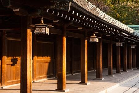 Decoration of Meiji Shrine, Tokyo, Japan Editorial