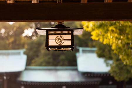 Lamp Decoration of Meiji Shrine, Tokyo, Japan Stock Photo