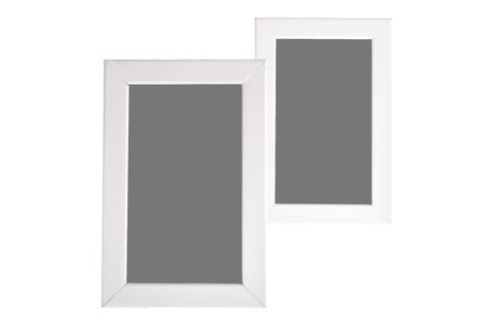 White frames on isolated white