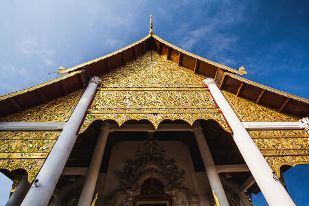 Golden of Thai style gable at The temple