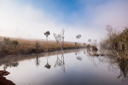Lake in the morning, Tung Slanglung National park, Northern of Thailand