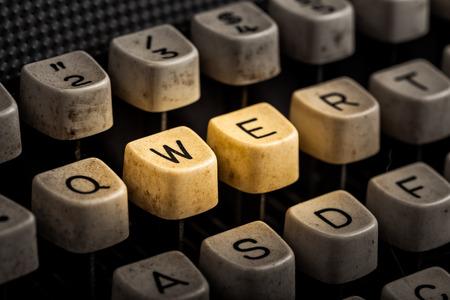 word we on the old typewriter
