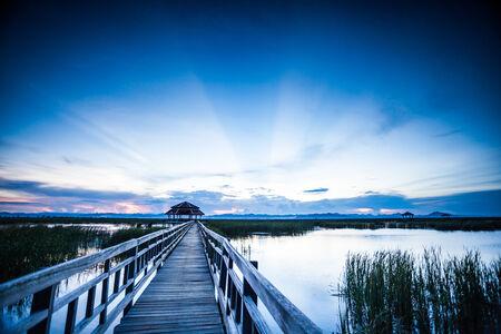 walkway in to the lake, Pranburi, Thailand national park photo