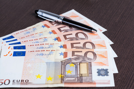 Euro banknote on the table