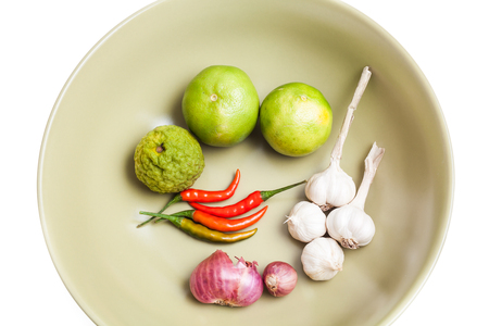 Thai herbs and spices, faw material for cooking Stock Photo