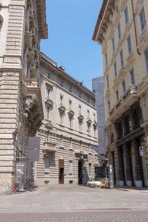 MILAN , ITALY - JULY 4 2015: Milano Duomo fashion shopping street on 04 July 2015 , Milan, Italy