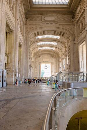 Interior of Milano centrale (Milan central train station)