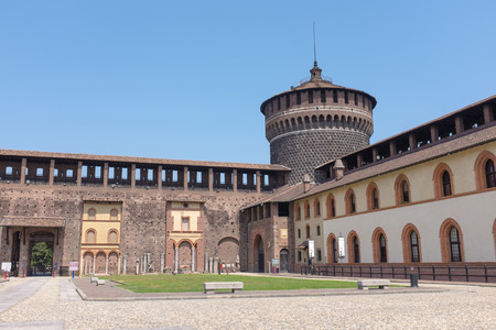 sforza: Sforzesco Castle or Castello Sforzesco, built in the 15 century, Milan, Italy