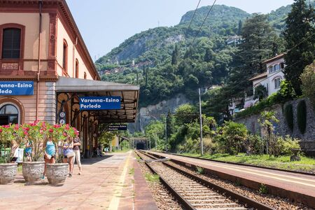 Varenna-Esino train station, italy Editorial