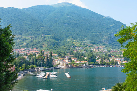 Small village of Bellagio, Lake Como, Italy, Lake Como, Italy Stock Photo