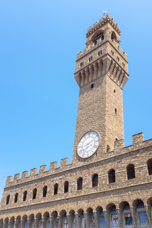 The Palazzo Vecchio, old palace and art gallery of the Medici family, Florence, Tuscany, Italy Editorial