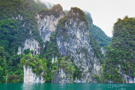 kao sok: Natural attractions at Ratchaprapha Dam, Khao Sok National Park, Suratthani Province, Thailand.Cheow Lan Dam (Ratchaprapa Dam)