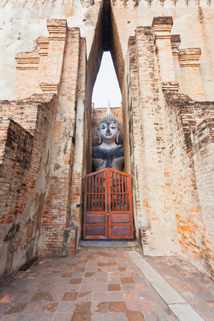 Ruin site of Sukhothai, ancient civilization of Siam (ancient name of Thailand)