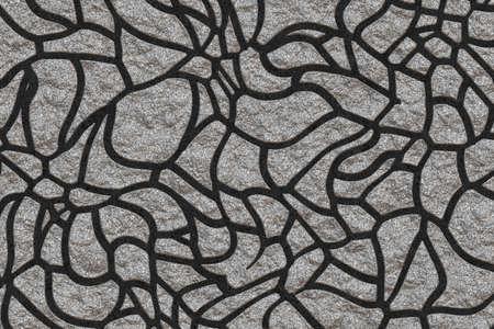 moss rock pavement
