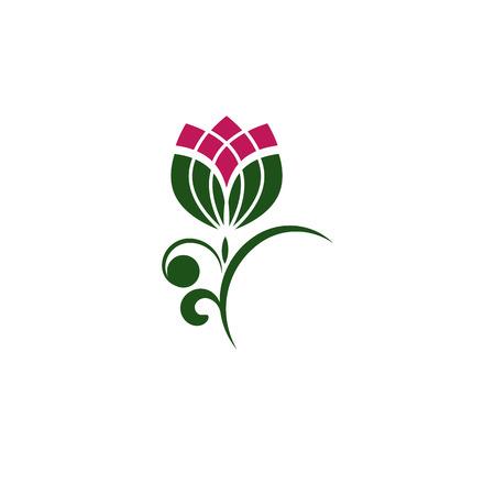 frendly: Eco frendly bud. Tulips bud .Organic icon. Health symbol. Vector Illustration. Illustration