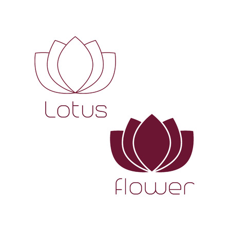 massage symbol: Lotus Logo,Lotus flower logo,Beauty logo,Fashion logo,Vector Logo Template