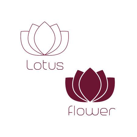 massage symbol: Lotus Logo,Lotus flower logo,Beauty logo,Fashion logo,Vector Logo Template