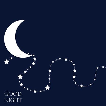esp: Stars and moon. Conceptual idea. Good nights. Vector Illustration. ESP 8