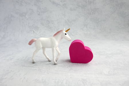 heart and unicorn with toning.