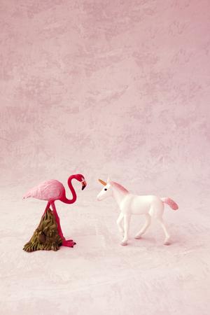 Flamingo and unicorn with toning.