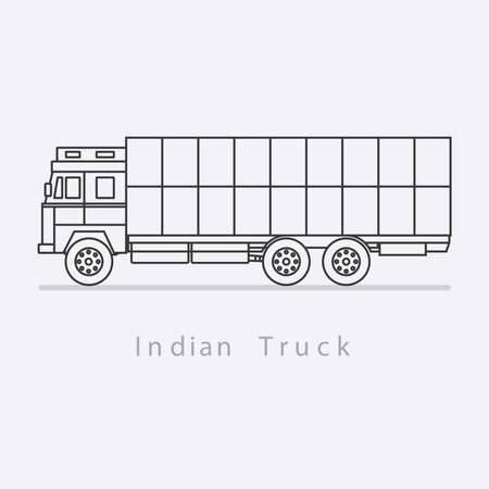 Indian vehicle Minimal vector illustration. Truck.