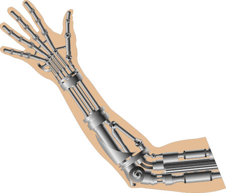 Cybernetic arm. Vector illustration for web Stock Vector - 5998153
