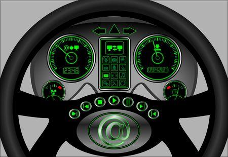 the navigator of internet. vector illustration Stock Vector - 6176092