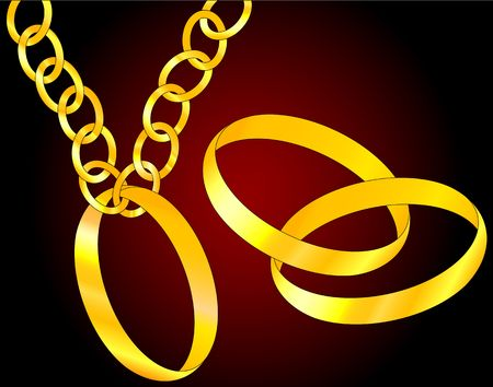 vows: the golden rings. vector illustration