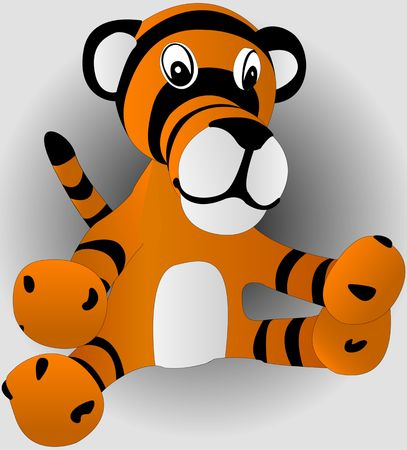 toy tiger cub. vector illustration Vector