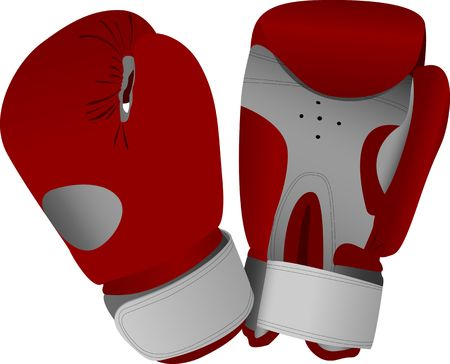 red boxing gloves. vector illustration