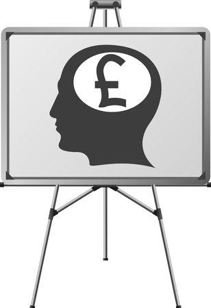 pound brain of a man. illustration Vector