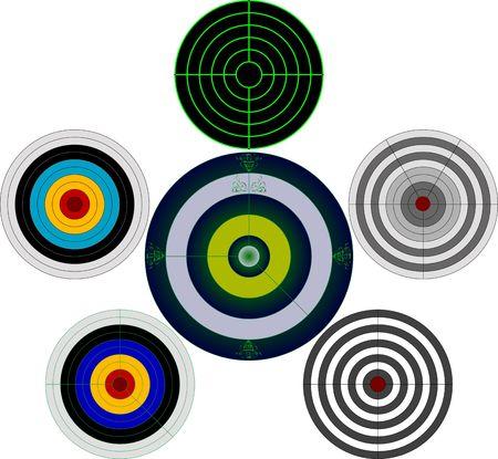 target shooting: set of targets.