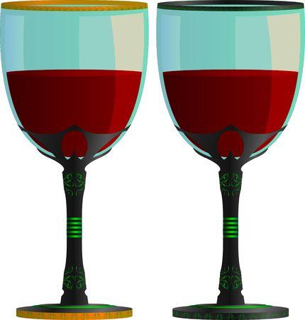 winetasting: glasses of wine. vector illustration