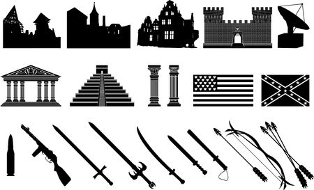 third set of silhouettes. vector illustration Illustration