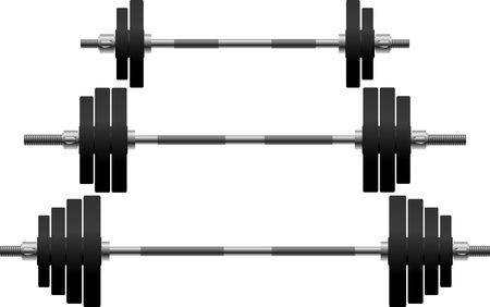 gym equipment: set di pesi. illustrazione  Vettoriali