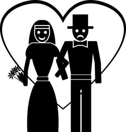 groom and bride.  illustration Vector