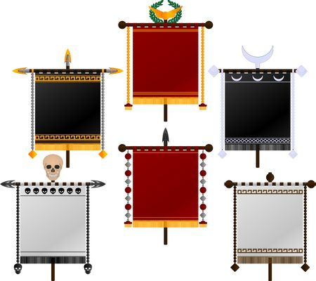 war decoration: set of standards. illustration