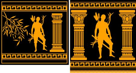 columna corintia: hellenic de Guerrero de fantas�a. Ilustraci�n